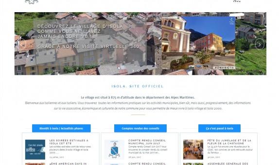 Site officiel de la mairie d'Isola
